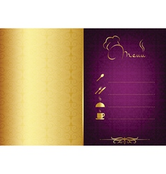Golden - purple food menu vector image