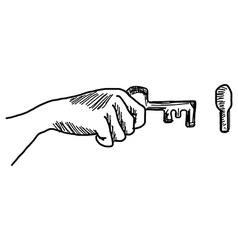 Hand drawn doodles key vector