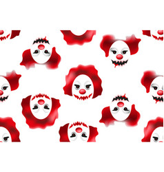 happy halloween seamless pattern with creepy and vector image
