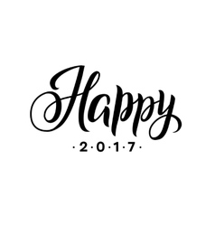 Happy New Year 2017 Calligraphy Greeting Card vector