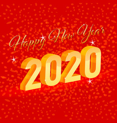 Happy new year 2020 concepts on a red vector