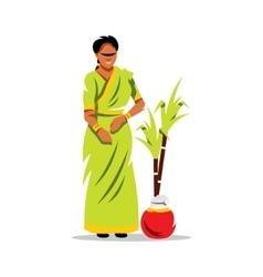 Happy pongal cartoon vector