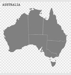 high quality map australia vector image