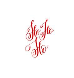 ho ho ho - hand lettering inscription to winter vector image