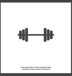 Icon dumbbells dumbbell for fitness on white vector