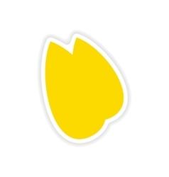 Icon sticker realistic design on paper almonds vector