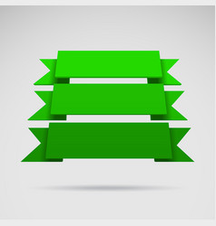 Infographic 3d green ribbons vector