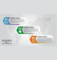 infographics modern template for business 3 step vector image
