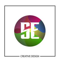 initial letter se logo template design vector image