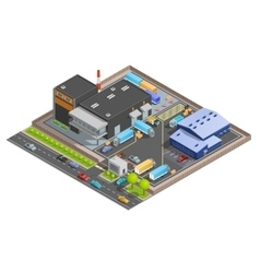 Isometric Composition OF Warehouse vector