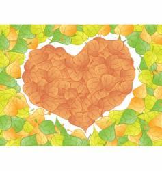 leaf heart vector image