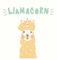 llamacorn vector image