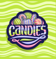 logo for hard candies vector image
