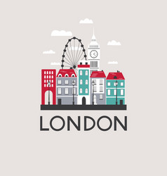 London travel background vector