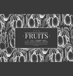 mango design template hand drawn tropic fruit on vector image