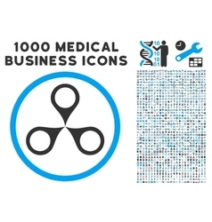 Map Markers Icon with 1000 Medical Business vector image