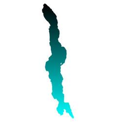 map of lake malawi vector image