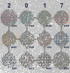 Marble template of 2017 calendar vector