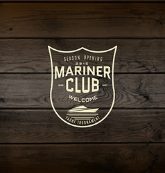 Mariner club badges logos and labels for any use vector image