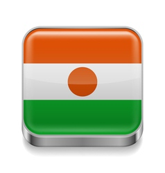 Metal icon of Niger vector image