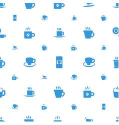 mocha icons pattern seamless white background vector image
