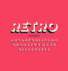 modern font design inretro style vector image