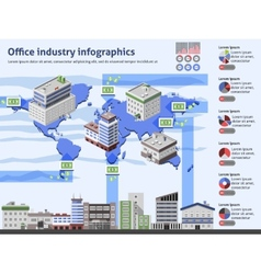 Office Industry Infographics vector