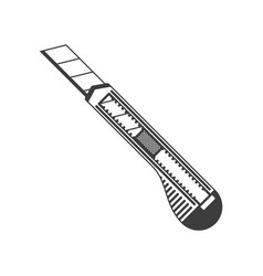 office plastic paper knife vector image