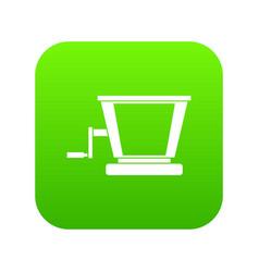 old grape juicer icon digital green vector image