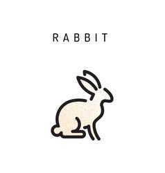 outline rabbit vector image