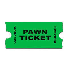Pawn ticket vector