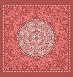 red bandana marsala trendy color vector image