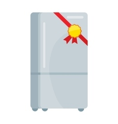 Refrigerator in Flat Design vector image
