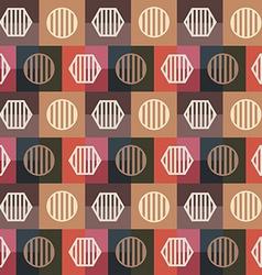 retro squares seamless pattern vector image