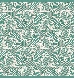 seamless decorative lace pattern on blue vector image