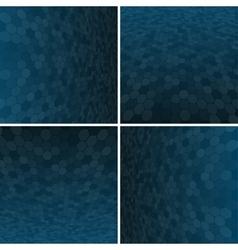 Set Blue Honeycomb Background vector