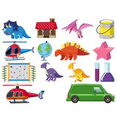 Set children toys vector