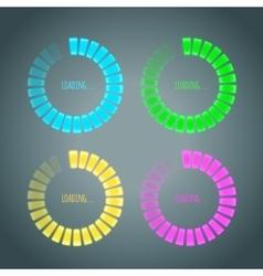 Set of glowing preloaders vector image