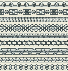 Set of seamless vintage borders in the form of vector