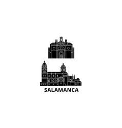spain salamanca flat travel skyline set spain vector image