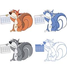 squirrel teacher cartoon vector image