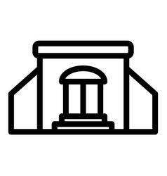 Street shop icon outline style vector
