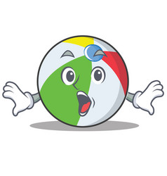 Surprised ball character cartoon style vector