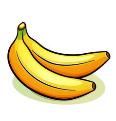 Two yellow bananas design vector