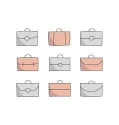 vecor briefcase icons vector image