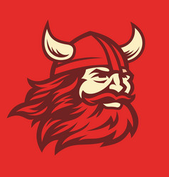 Viking head image vector