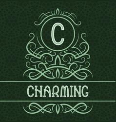 vintage label design template for charming vector image