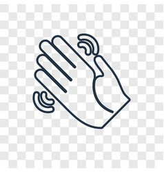 waving hand concept linear icon isolated on vector image