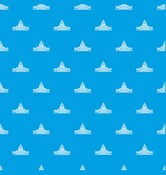 white house pattern seamless blue vector image