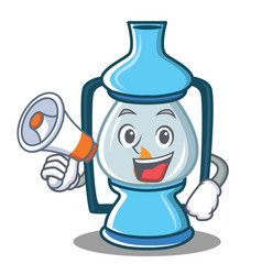 With megaphone lantern character cartoon style vector